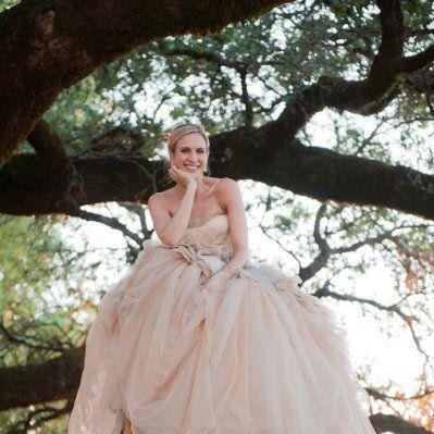 Photo: All eyes were most definitely on the bride in her positively STUNNING Vera Wang gown!! Wedding Photography: Tia & Claire Studio Wedding Venue: Chalk Hill Estate Winery in Healdsburg Wedding Planning + Coordination: Thumhart Event Consulting ( winecountry-events.com ) Floral Design: Maria Philbin Floral Design (mariaphilbinfloraldesign.com) Bridesmaids' Dresses: J.Crew