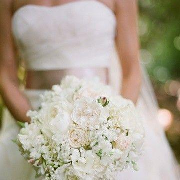 Photo: Hot on Pinterest: This romantic bouquet of garden roses in shades of cream and dusty pink, along with lily of the valley, sweet peas, and lamb's ear is earning rave reviews from fellow pinners. http://ow.ly/aBUPJ